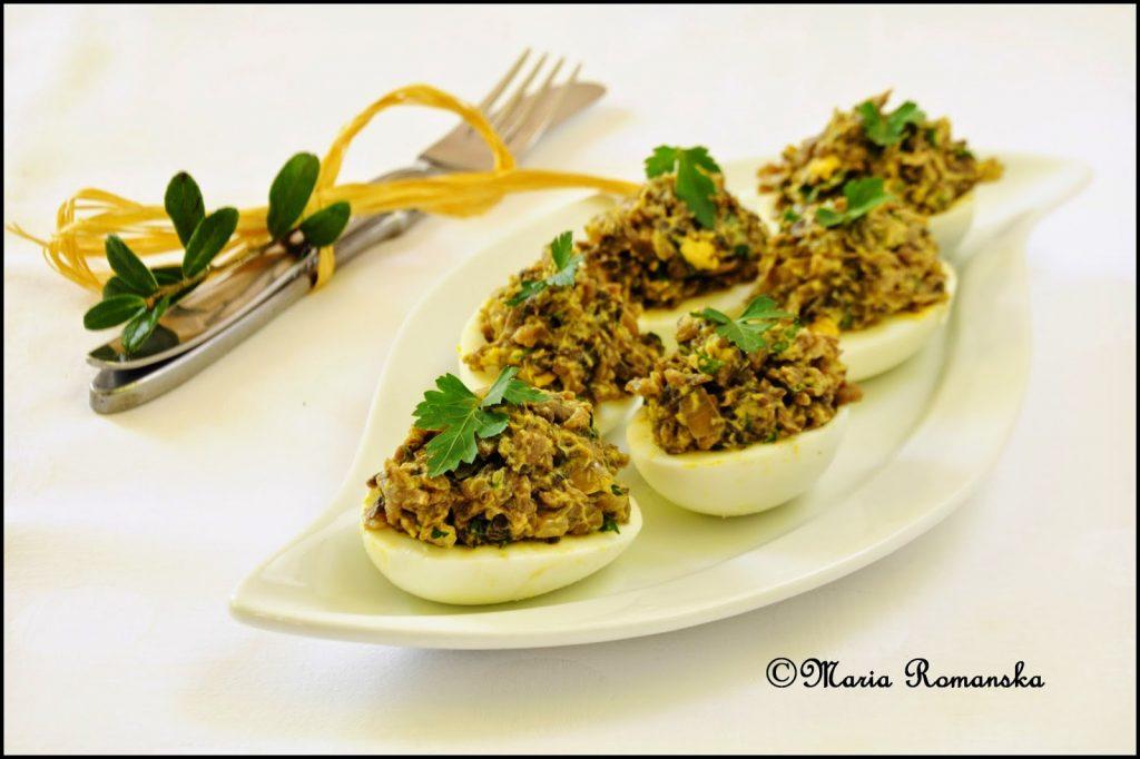 jajka z pieczarkami