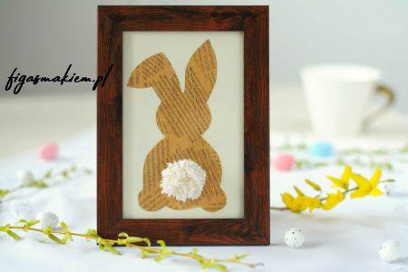 dekoracja wielkanocna królik